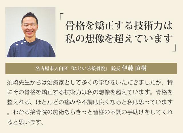 名古屋市天白区『にじいろ接骨院』 院長 伊藤 直樹